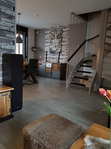 naturel stoer industrieel interieur kamer