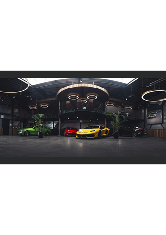 project inrichting auto showroom fastlane exclusive